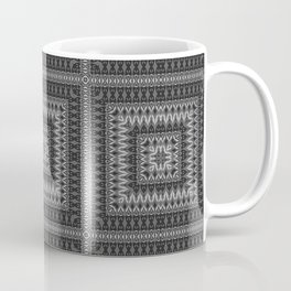 Black gray ethnic pattern . 1 Coffee Mug