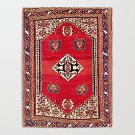 Qashqa'i Kashkuli Fars Southwest Persian Rug Print Poster