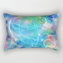 Neon Abstract Design 2 Rectangular Pillow