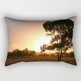 Evening Golden Landscape Rectangular Pillow