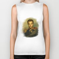 leonardo dicaprio Biker Tanks featuring Leonardo Dicaprio - replaceface by replaceface