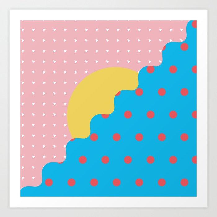 Memphis Style N°6 Art Print
