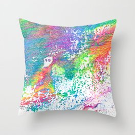 Rainbow Paint Splatter V2 Throw Pillow