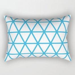 Blue Triangle Pattern 2 Rectangular Pillow