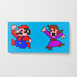 Mario, RUN! Metal Print