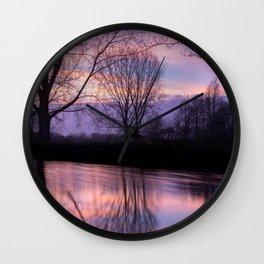 Sunset silhouette Wall Clock