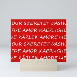 Love International Mini Art Print