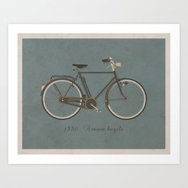 Antique Bicycle(with text) Art Print