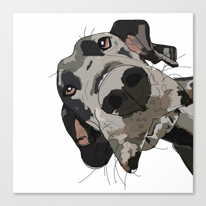 Great Dane dog in your face Leinwanddruck