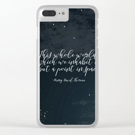 This Whole World Clear iPhone Case
