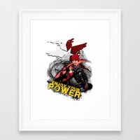 """infamous Framed Art Prints featuring InFamous Second Son - """"ENJOY YOUR POWER"""" by Emme Gray"""
