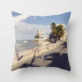 St Lawerence Gap Barbados Throw Pillow