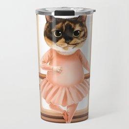 Ballerina Cat Travel Mug