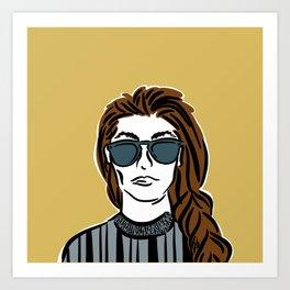 She Cool | Yellow Art Print