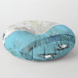 Fairbanks Abstract Light Blue White Floor Pillow
