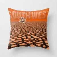 southwest Throw Pillows featuring Southwest by Phil Perkins