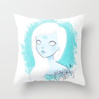 cancer Throw Pillows featuring CANCER ♋ by ⋆ cla ⋆