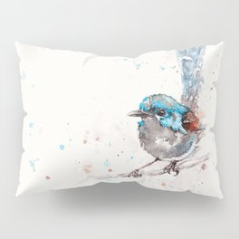 Mischief In The Making (Variegated Fairy Wren) Pillow Sham