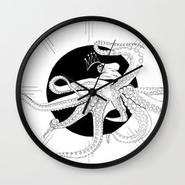 Captured by the sun - Ink artwork Wall Clock