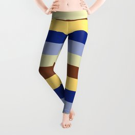 lumpy or bumpy lines abstract and summer colorful - QAB277 Leggings