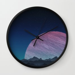 To lands untouched we travel. Wall Clock