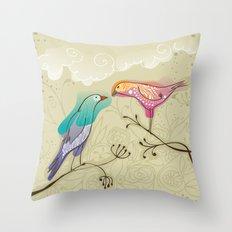 couple of beautiful love birds Throw Pillow