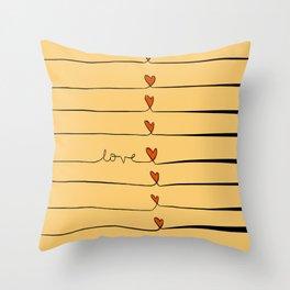Lovelines Throw Pillow