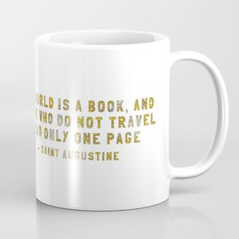 A Traveler's Heart + Quote Coffee Mug