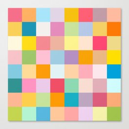 Candy colors Canvas Print