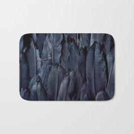 Mystic Black Feather Close Up Bath Mat
