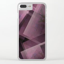 Posh Pink - Digital Geometric Texture Clear iPhone Case