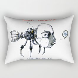 idiotfish (wally schnalle edition) Rectangular Pillow