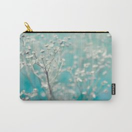 Ice blue - floral Carry-All Pouch
