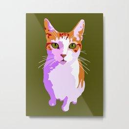 Trixie Pink/Green Metal Print