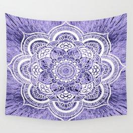 Mandala Lavender Colorburst Wall Tapestry