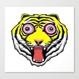 Psychedelic Tiger Eyes by Hello Banana Canvas Print