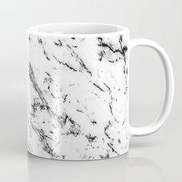 Black and White Marble Pattern // Dripping Cookies and Creme Speckled Stone Coffee Mug