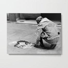 Street Art in B&W Metal Print