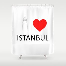 I Love Istanbul Shower Curtain