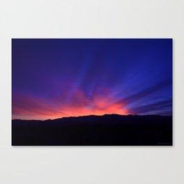 SW Mountain Sunrise - 6 Canvas Print
