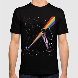 Rainbow Astronaut in Space  T-shirt