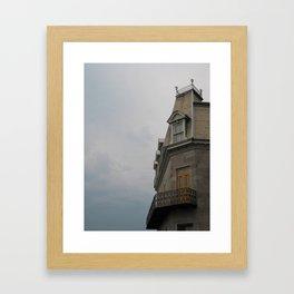 Cloudy Montreal Framed Art Print