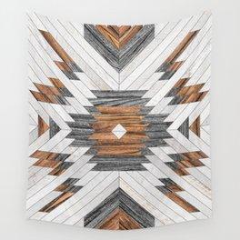 Urban Tribal Pattern No.8 - Aztec - Wood Wall Tapestry