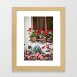 Windowsill Garden, Bellagio Framed Art Print