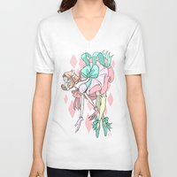 magical girl V-neck T-shirts featuring Magical Girl Pearl by IdentityPollution