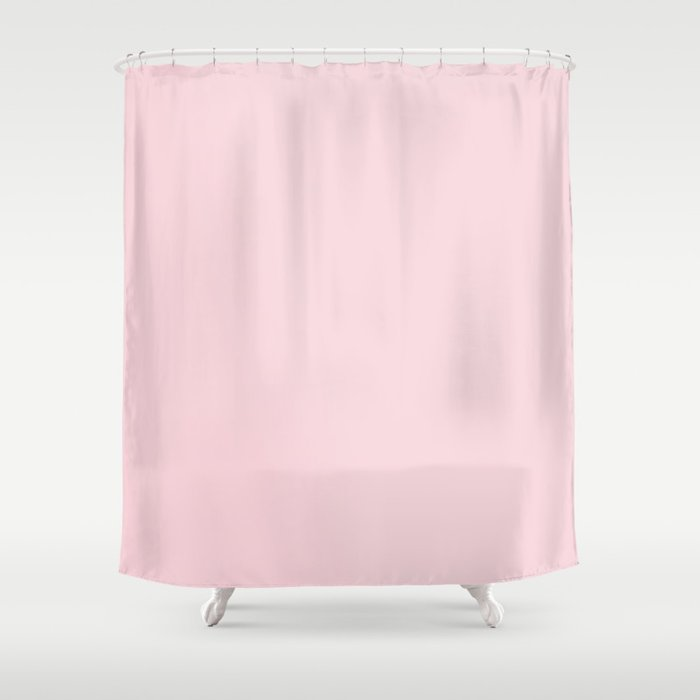 BLUSH PINK COTTON CANDY SOLID COLOR Shower Curtain