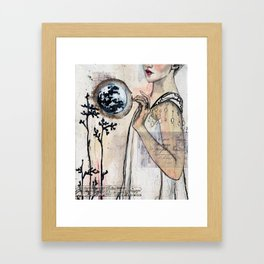 Touch the Moon Framed Art Print