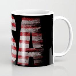 USA flag Grunge Coffee Mug