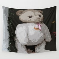 teddy bear Wall Tapestries featuring Teddy Bear by Christiane W. Schulze Art and Photograph