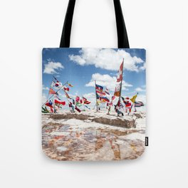 Salar de Uyuni International Flags Tote Bag